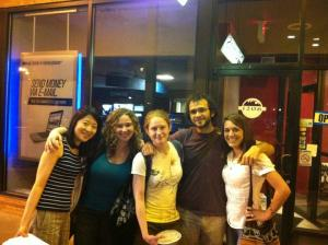 Lily Huang, Joy Wattawa, Devin Gouvêa, Carmine Grimaldi, and Ashley Clark after dinner at Cedar's.