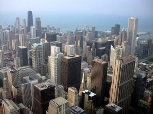 Downtown Chicago's impressive skyline.