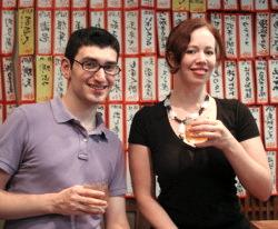 Adam Baim and Cecelia Watson, CHSS alumni.