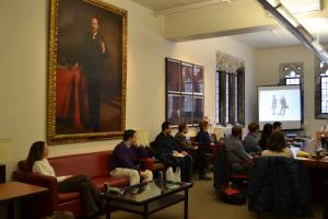 The John Hope Franklin Room (Dept. of History), home to the HPS and HHS workshops.
