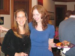 Dana Rovang and Cecelia Watson, CHSS alumni.