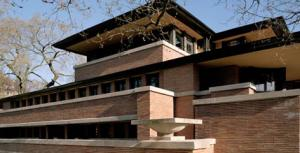 Frank Lloyd Wright's Robie House, located on the University of Chicago campus.